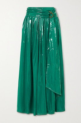 Sies Marjan Amalia Belted Coated-jersey Maxi Skirt - Emerald