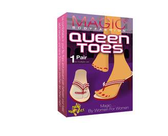 Magic Body Fashion Magic Bodyfashion Women's Queen Toes Ankle Socks