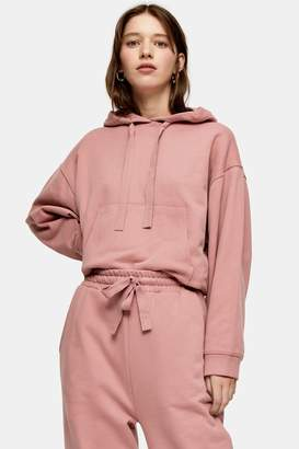 Topshop CONSIDERED Pink Organic Cotton Hoodie