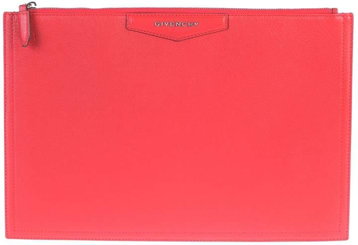 Givenchy Red Antigona Clutch