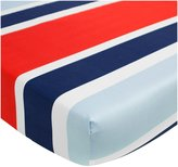 CoCalo Connor Collection Fitted Crib Sheet - Red & Blue Stripes