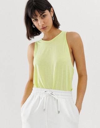 Weekday Trino lime tank vest