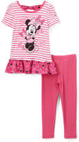 Children's Apparel Network Minnie Mouse Pink Tee & Leggings - Infant & Toddler