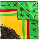 Palm Angels 'Rastafarian Skull Foulard' scarf