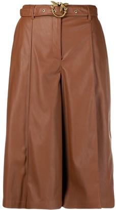 Pinko Long Faux Leather Shorts
