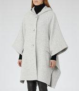 Reiss Dita - Hooded Cape in Grey, Womens