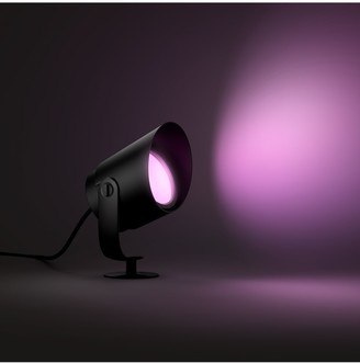 Philips Hue White and Colour Ambiance Lily LED XL Smart Outdoor Spotlight Extension, Black