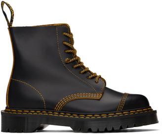 Dr. Martens Black 1460 Pascal Double-Stitch Lace-Up Boots