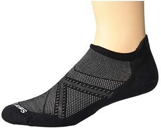 Smartwool PhD(r) Run Ultra Light Micro (Medium Gray) Men's No Show Socks Shoes