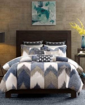 INK+IVY Alpine Cotton Reversible King Chevron Stripe Print Duvet Mini Set Bedding