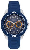 Guess Chronograph Force Stainless Steel Silicone Strap Watch