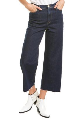 Frame Ali Wide Crop Raw Edge Jean