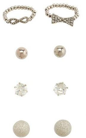 Charlotte Russe Stretch Ring & Earrings Set