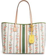 Tory Burch Floral Canvas Tote