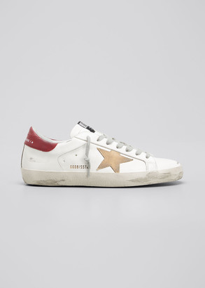 Golden Goose Men's Superstar Suede & Leather Low-Top Sneakers