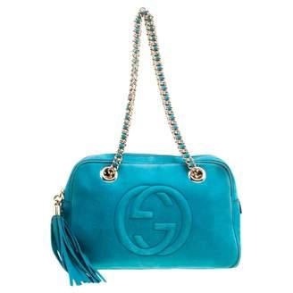 Gucci Blue Suede Handbags
