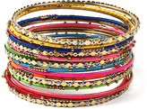 Amrita Singh Austrian Crystal & Silk Noho Bangle Set