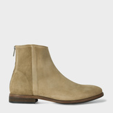 Paul Smith Men's Taupe Suede 'Jean' Boots