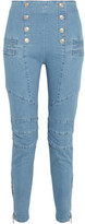 Pierre Balmain High-rise Skinny Jeans - Light blue