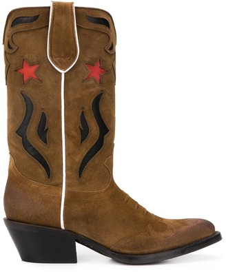 Ash Prince embroidered boots