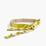 J.Crew Satin ribbon belt