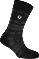 Fred Perry Black Watch Tartan Socks Green