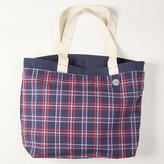 Blade + Blue Navy Canvas & Blue Plaid OLD SCHOOL Reversible Tote Bag