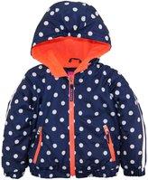 Pink Platinum Little Girls Polka Dot Active Hooded Jacket Spring Coat