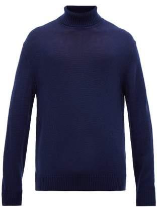 Jil Sander Wool Roll Neck Sweater - Mens - Navy