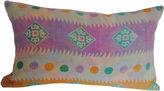 One Kings Lane Vintage Lavender & Multicolored Kantha Pillow