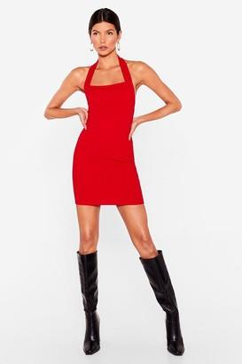 Nasty Gal Womens Chasing the Night Halter Mini Dress - Red