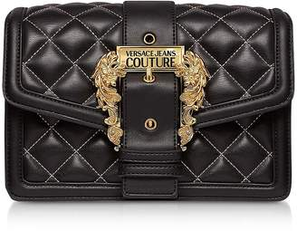 Versace Quilted Nappa Leather Crossbody Bag w/ Buckle