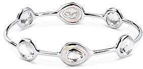 Ippolita Sterling Silver Ondine Clear Quartz & Mother-of-Pearl Station Bangle Bracelet