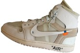 Nike x Off-White Air Jordan 1 White Leather Trainers