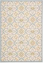 Caribbean Indoor/Outdoor Rug - Ivory/Blue