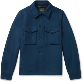 Paul Smith Wool-blend Overshirt - Blue