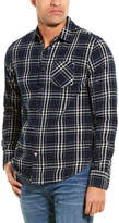 Scotch & Soda Ams Blauw Brushed Regular Fit Woven Shirt