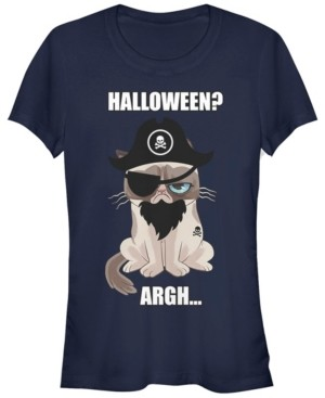 Fifth Sun Grumpy Cat Women's Halloween Argh Pirate Costume Short Sleeve Tee Shirt