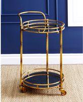 Abbyson Living Marriot 2-Tier Round Bar Cart