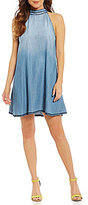 Chelsea & Violet Halter Neck Sleeveless Blanket Stitch Dress
