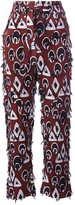 Chloé frayed printed trousers