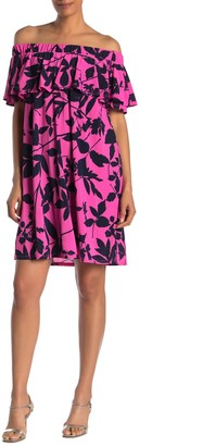 Rachel Roy Libby Floral Popover Mini Dress