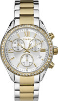Timex Elevated Classic Womens Chronograph Two-Tone Stainless Steel Bracelet Watch TW2P67000AB