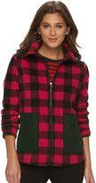 Chaps Women's Buffalo Check Fleece Jacket