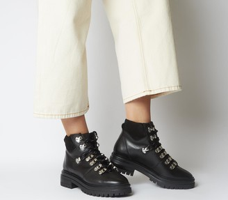 Office Above All Hiker Boots Black Leather