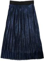 Anne Kurris Plisse Tulle & Lurex Long Skirt