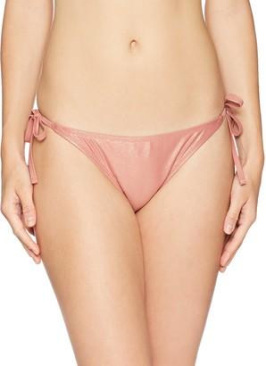 Mae Amazon Brand Women's Swimwear Olivia Side Tie Bikini Bottom Deep Annie Large