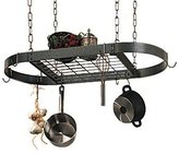 Rogar Pot Rack - Hanging - Oval - Hammered Steel - 16 × 34