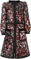 Marc Jacobs Warped Flower sequin coat - women - Silk/Polyester/Metallized Polyester - 2