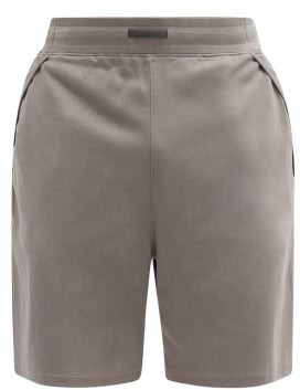 Lahgo - Restore Cotton-blend Pyjama Shorts - Grey
